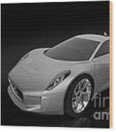 Jaguar C-x75 Wood Print