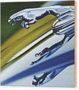 Jaguar Car Hood Ornament Wood Print