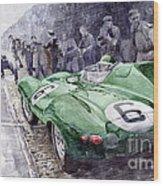 Jaguar D-type  1955 Le Mans  Wood Print