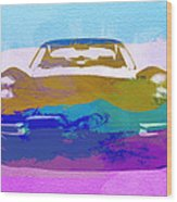 Jaguar E Type Front Wood Print by Naxart Studio