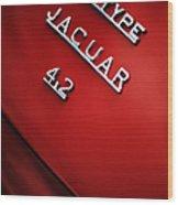Jaguar E Type Wood Print