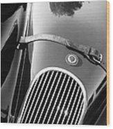 Jaguar Hood Emblem - Grille Wood Print by Jill Reger