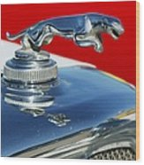 Jaguar Hood Ornament 2 Wood Print