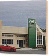 Jaguar Land Rover At Dusk Wood Print