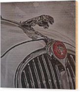 Jaguar Mk II Bonnet Wood Print