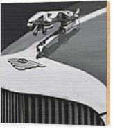 Jaguar Mk Ix Hood Wood Print