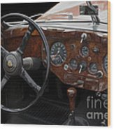 Jaguar Odtimer Steering Wheel Wood Print