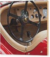 Jaguar Steering Wheel Wood Print by Jill Reger