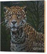 Jaguar Two Wood Print