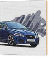 Jaguar Xe Rs Wood Print