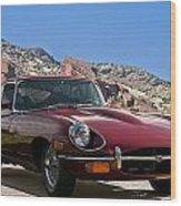 Jaguar Xke Wood Print