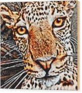 Jaguareyes Wood Print