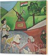 Jai Jawan Jai Kisan Wood Print