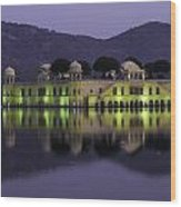 Jai Mahal Water Palace Wood Print
