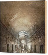 Jail - Eastern State Penitentiary - End Of A Journey Wood Print
