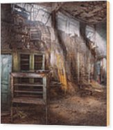 Jail - Eastern State Penitentiary - Sick Bay Wood Print by Mike Savad
