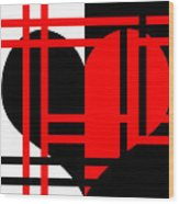 Jailed Heart Wood Print