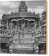 Jain Temple Monochrome Wood Print