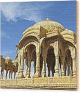 Jaisalmer Cenotaph Wood Print
