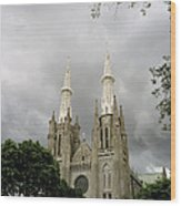 Jakarta Cathedral Indonesia Wood Print