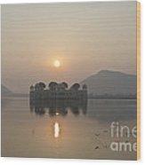 Jal Mahal In Sunrise Wood Print