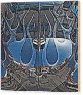 Jalopy Hood Reflections Wood Print by Samuel Sheats