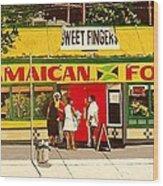 Jamaican Food Wood Print