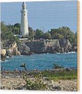 Jamaican Lighthouse Wood Print