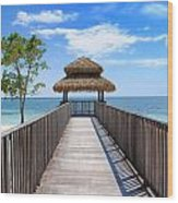 Jamaican Paradise Wood Print