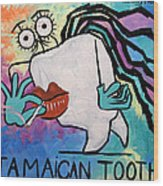 Jamaican Tooth Wood Print by Anthony Falbo
