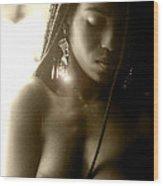 Jamaican Woman Wood Print