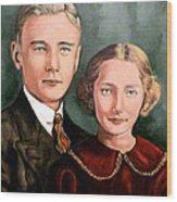James And Ina K Wood Print