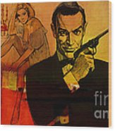 James Bond Wood Print