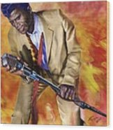 James Brown And His Famous Flames Wood Print