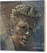 James Dean Wood Print by Bedros Awak