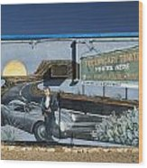 James Dean Mural In Tucumcari On Route 66 Wood Print by Carol Leigh