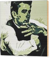 James Dean Poster Art Wood Print