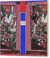 James Earl Jones Smoking Twice Collage The Great White Hope Set Globe Arizona 1969-2012 Wood Print