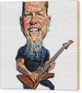 James Hetfield Wood Print by Art