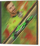 James Hinchcliffe Wood Print by Blake Richards