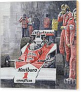 James Hunt Monaco Gp 1977 Mclaren M23 Wood Print