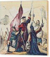 James IIi Lands In Scotland, 1715 Wood Print