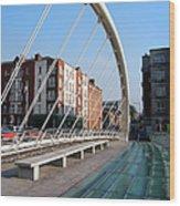 James Joyce Bridge In Dublin Wood Print