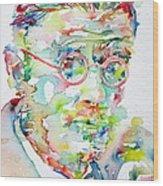 James Joyce Portrait.1 Wood Print