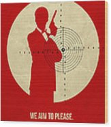 James Poster Red 2 Wood Print