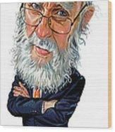 James Randi Wood Print