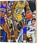 James Worthy Wood Print