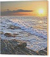 Jamestown Surf At First Light Wood Print