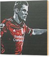 Jamie Carragher - Liverpool Fc Wood Print