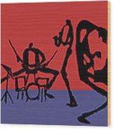 Jammin Jazz Quintet Wood Print